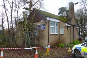 Tree falls on Abbots Langley police station as Storm Imogen hits UK